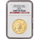 2006 American Gold Buffalo (1 oz) $50 - NGC MS69 - First Strikes