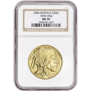 2006 American Gold Buffalo (1 oz) $50 - NGC MS70