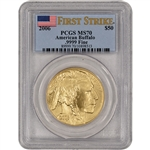 2006 American Gold Buffalo (1 oz) $50 - PCGS MS70 - First Strike