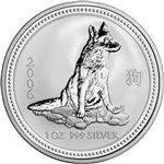 2006 Australia Silver Lunar Series I Year of the Dog 1 oz $1 - BU