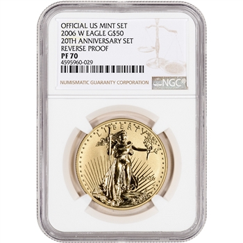 2006-W American Gold Eagle Reverse Proof (1 oz) $50 - NGC PF70