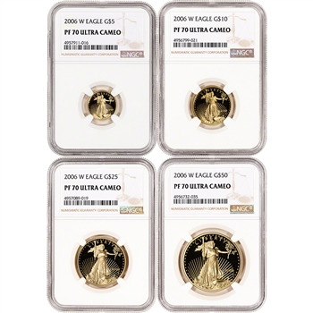 2006-W American Gold Eagle Proof 4-pc Year Set - NGC PF70 UCAM