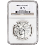 2006-W American Platinum Eagle Burnished - 1 oz - $100 - PCGS MS70