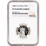 2006 W American Platinum Eagle Proof 1/4 oz $25 - NGC PF70 UCAM