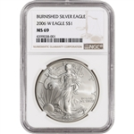 2006-W American Silver Eagle Burnished - NGC MS69