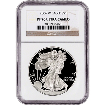2006-W American Silver Eagle Proof - NGC PF70 UCAM