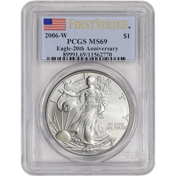 2006-W American Silver Eagle Burnished - PCGS MS69 First Strike