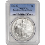 2006-W American Silver Eagle Burnished - PCGS SP70