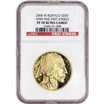 2006-W American Gold Buffalo Proof 1 oz $50 - NGC PF70 UCAM - First Strikes