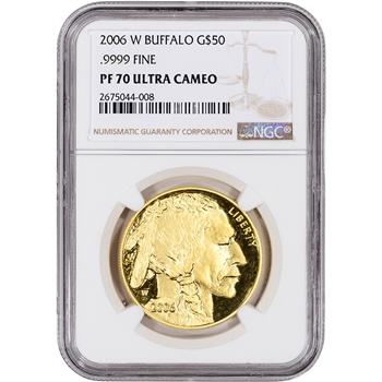 2006-W American Gold Buffalo Proof (1 oz) $50 - NGC PF70 UCAM