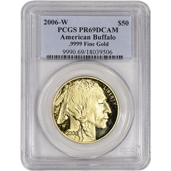 2006-W American Gold Buffalo Proof (1 oz) $50 - PCGS PR69 DCAM
