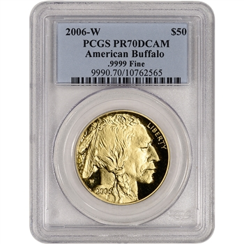 2006-W American Gold Buffalo Proof (1 oz) $50 - PCGS PR70 DCAM