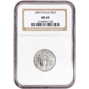 2007 American Platinum Eagle 1/4 oz $25 - NGC MS69
