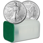 2007 American Silver Eagle (1 oz) $1 - 1 Roll - Twenty 20 BU Coins in Mint Tube