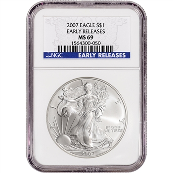 2007 American Silver Eagle - NGC MS69 - Early Releases
