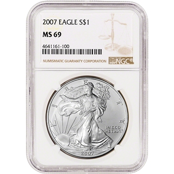 2007 American Silver Eagle - NGC MS69