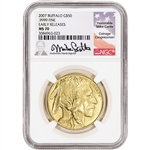 2007 American Gold Buffalo 1 oz $50 - NGC MS70 Early Releases Mike Castle Signed