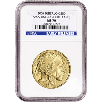 2007 American Gold Buffalo (1 oz) $50 - NGC MS70 - Early Releases