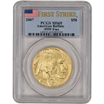2007 American Gold Buffalo (1 oz) $50 - PCGS MS69 - First Strike