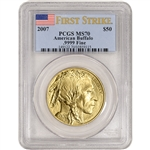 2007 American Gold Buffalo (1 oz) $50 - PCGS MS70 - First Strike