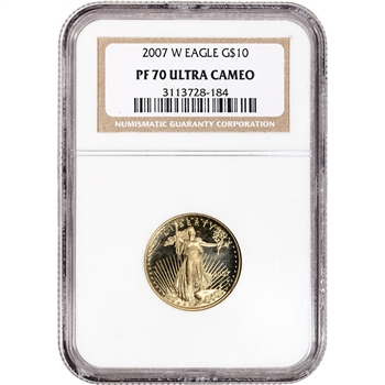 2007-W American Gold Eagle Proof (1/4 oz) $10 - NGC PF70 Ultra Cameo