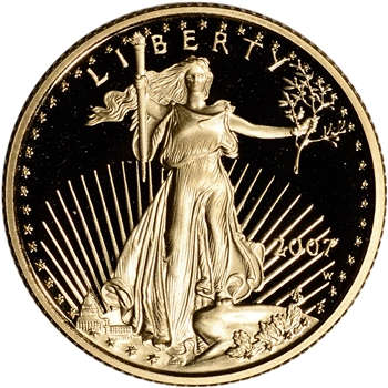 2007-W American Gold Eagle Proof 1/4 oz $10 - Coin in Capsule