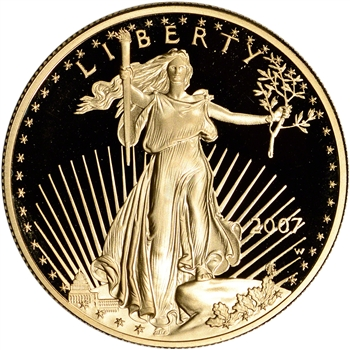 2007-W American Gold Eagle Proof 1 oz $50 - Coin in Capsule