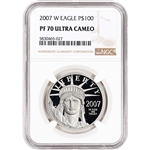 2007 W American Platinum Eagle Proof 1 oz $100 - NGC PF70 UCAM