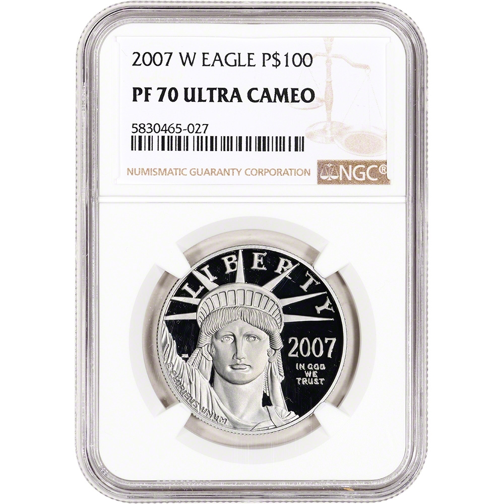 NGC PF70 UCAM 2007-W American Silver Eagle Proof