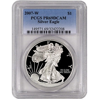 2007-W American Silver Eagle Proof - PCGS PR69DCAM