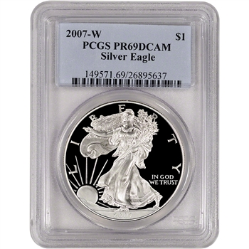 2007-W American Silver Eagle Proof - PCGS PR69 DCAM