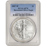2007-W American Silver Eagle Burnished - PCGS SP70