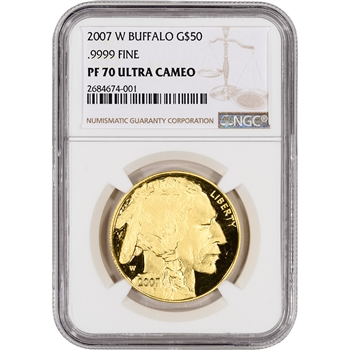 2007-W American Gold Buffalo Proof (1 oz) $50 - NGC PF70 Ultra Cameo