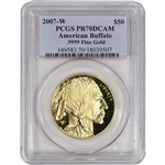 2007-W American Gold Buffalo Proof (1 oz) $50 - PCGS PR70 DCAM