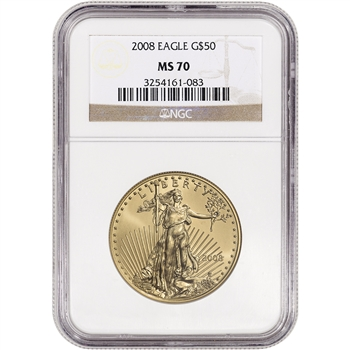 2008 American Gold Eagle 1 oz $50 - NGC MS70