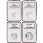 2008 American Platinum Eagle - 4-pc Year Set - NGC MS70