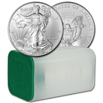 2008 American Silver Eagle (1 oz) $1 - 1 Roll - Twenty 20 BU Coins in Mint Tube