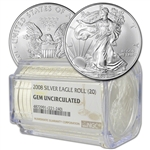 Roll of 20 - 2008 American Silver Eagle - NGC Gem Uncirculated