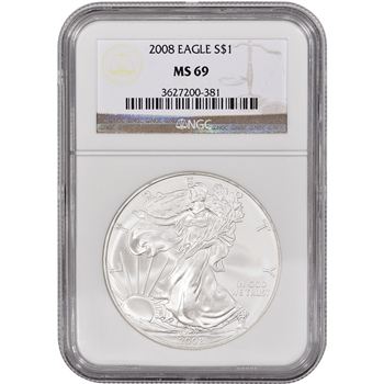 2008 American Silver Eagle - NGC MS69
