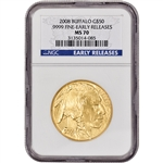 2008 American Gold Buffalo (1 oz) $50 - NGC MS70 - Early Releases