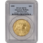2008 American Gold Buffalo (1 oz) $50 - PCGS MS70