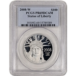 2008-W American Platinum Eagle Proof 1 oz $100 - PCGS PR69 DCAM