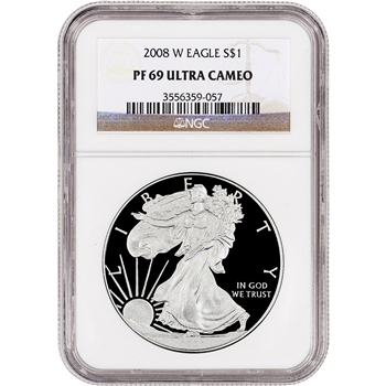 2008-W American Silver Eagle Proof - NGC PF69 UCAM