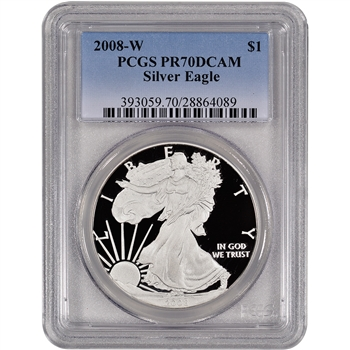 2008-W American Silver Eagle Proof - PCGS PR70DCAM
