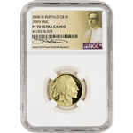 2008-W American Gold Buffalo Proof (1/4 oz) $10 - NGC PF70 UCAM - Fraser Label
