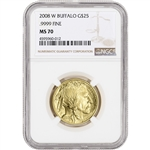 2008-W American Gold Buffalo (1/2 oz) $25 - Burnished - NGC MS70