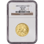 2008-W American Gold Buffalo (1/2 oz) $25 - NGC MS70 - Burnished
