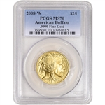 2008-W American Gold Buffalo (1/2 oz) $25 - PCGS MS70
