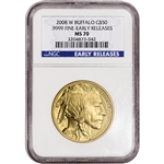 2008-W American Gold Buffalo (1 oz) $50 - Burnished - NGC MS70 Early Releases