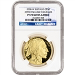 2008-W American Gold Buffalo Proof 1 oz $50 NGC PF70 UCAM Early Releases